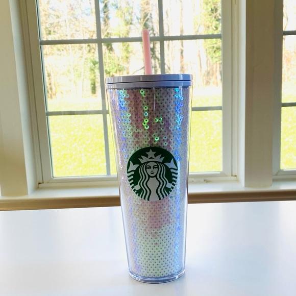 Starbucks Iridescent Sequin Holiday Tumbler